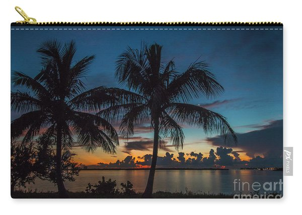 Carry-all Pouch featuring the photograph Twin Palms Sunrise by Tom Claud