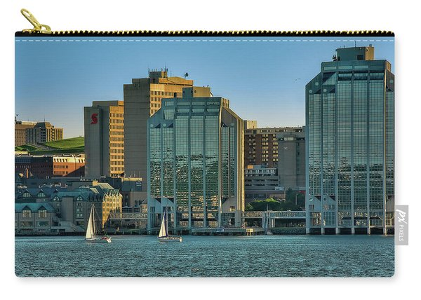 Twin Purdy Towers Of Halifax Carry-all Pouch