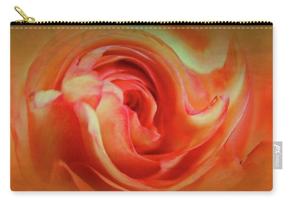 Twirling Rose Carry-all Pouch