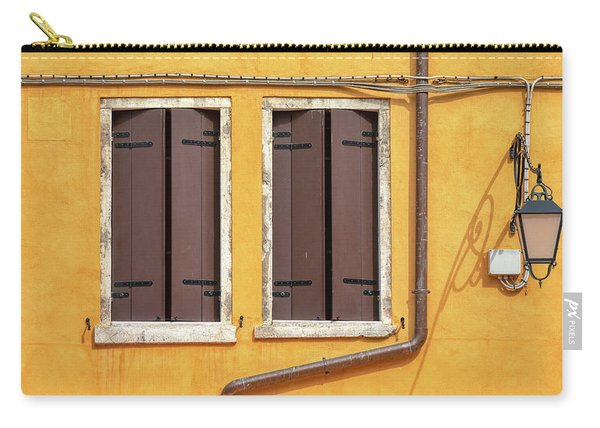Two Brown Windows Of Venice Carry-all Pouch