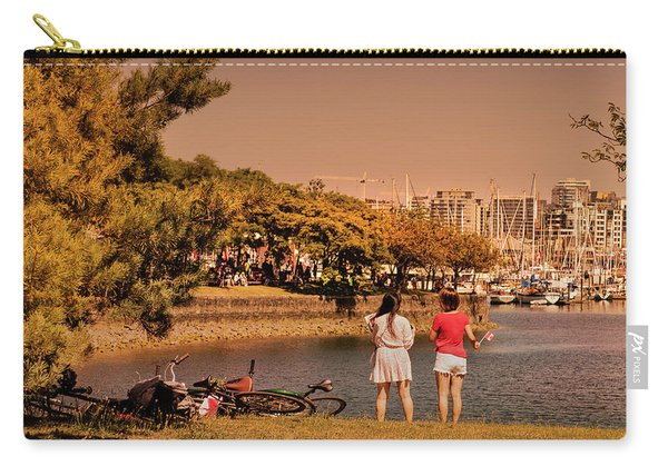 Carry-all Pouch featuring the photograph Two Girls by Juan Contreras