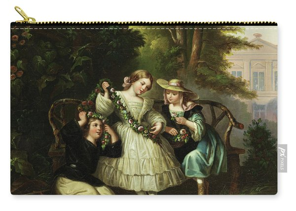Two Girls On A Park Bench  Carry-all Pouch