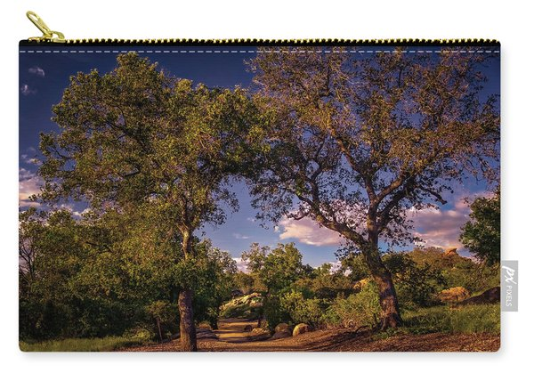 Two Old Oak Trees At Sunset Carry-all Pouch