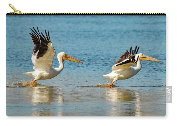 Two Pelicans Taking Off Carry-all Pouch