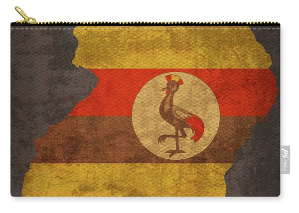Uganda Country Flag Map Carry-all Pouch