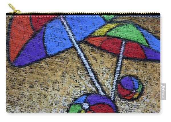 Umbrellas On The Beach Carry-all Pouch