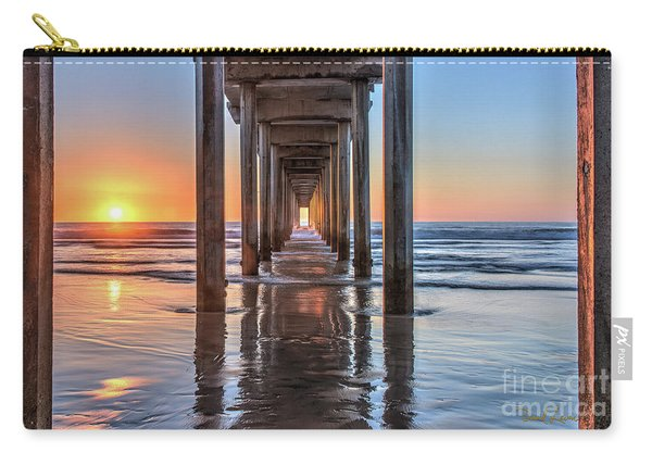 Under Scripps Pier At Sunset  ..autographed.. Carry-all Pouch