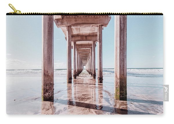 Under The Boardwalk Scripps Pier San Diego Square Carry-all Pouch