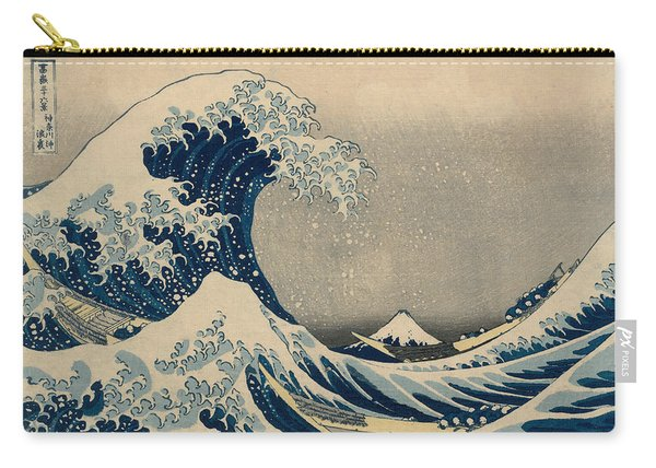 Under The Wave Off Kanagawa, Also Known As The Great Wave Carry-all Pouch