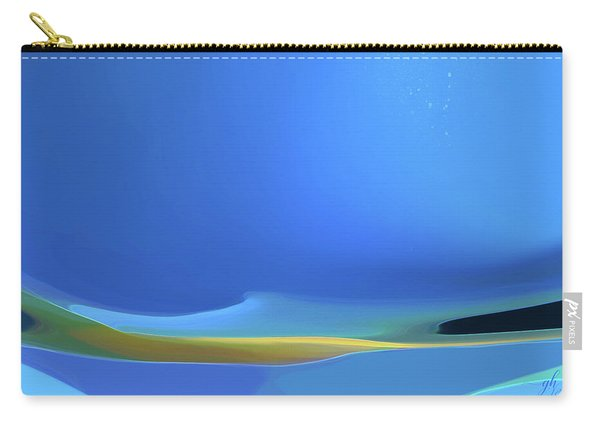 Carry-all Pouch featuring the digital art Undercurrents by Gina Harrison