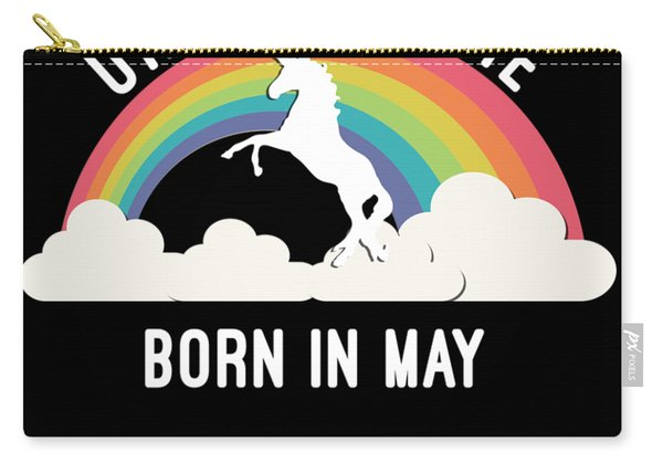 Carry-all Pouch featuring the digital art Unicorns Are Born In May by Flippin Sweet Gear