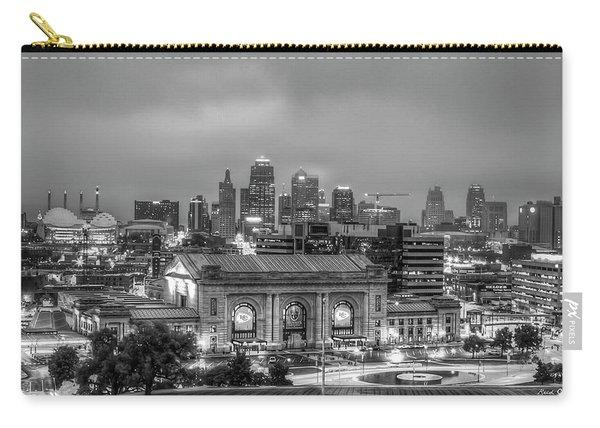 Union Station Sunrise 2 B W Kansas City Missouri Art  Carry-all Pouch