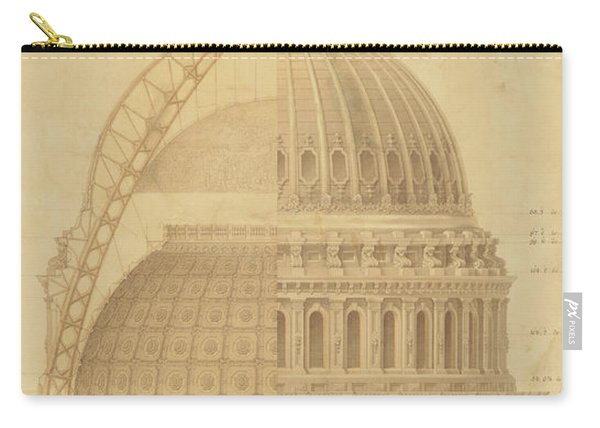 United States Capitol, Section Of Dome, 1855 Carry-all Pouch