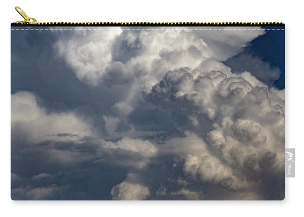 Carry-all Pouch featuring the photograph Updrafts And Anvil 008 by NebraskaSC