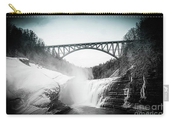 Upper Falls At Letchworth State Park Carry-all Pouch