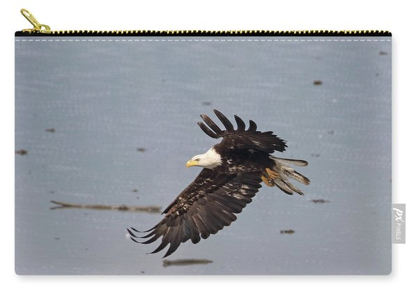 Carry-all Pouch featuring the photograph Valdez Eagle Two by Jean Clark