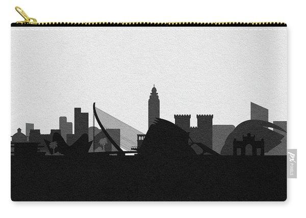 Valencia Cityscape Art Carry-all Pouch