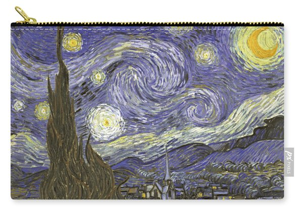 Carry-all Pouch featuring the digital art Van Goh Starry Night by Flippin Sweet Gear