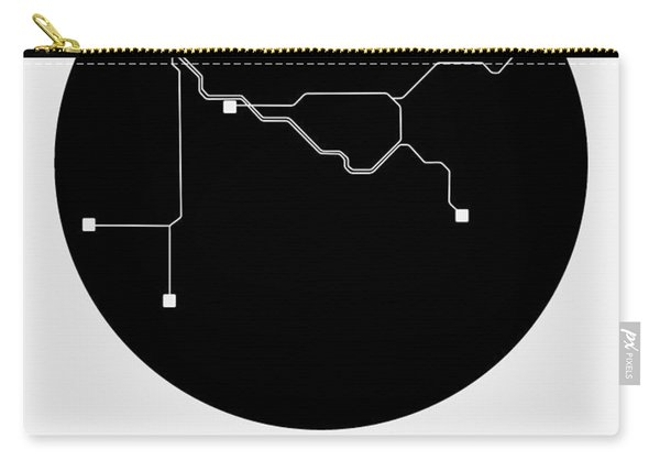 Vancouver Black Subway Map Carry-all Pouch