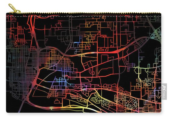 Vancouver British Columbia Canada Watercolor City Street Map Dark Mode Carry-all Pouch