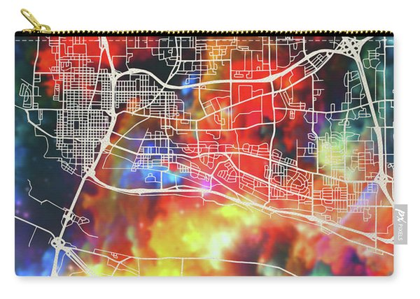 Vancouver Canada Watercolor City Street Map Carry-all Pouch