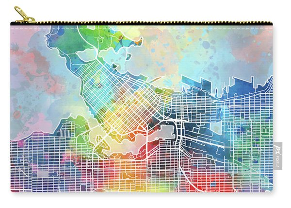 Vancouver Map Watercolor Carry-all Pouch