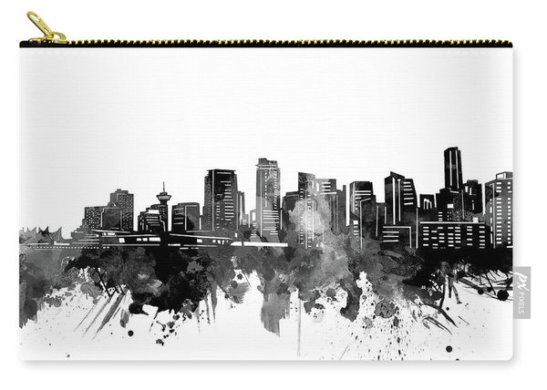 Vancouver Skyline Bw Carry-all Pouch