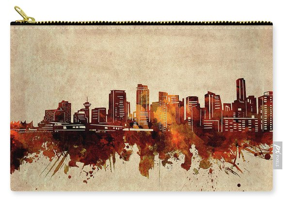 Vancouver Skyline Sepia Carry-all Pouch