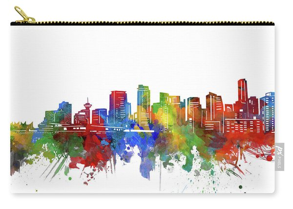 Vancouver Skyline Watercolor 2 Carry-all Pouch