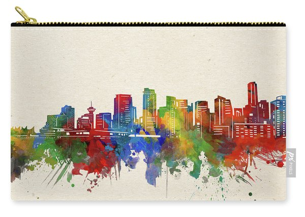 Vancouver Skyline Watercolor Carry-all Pouch