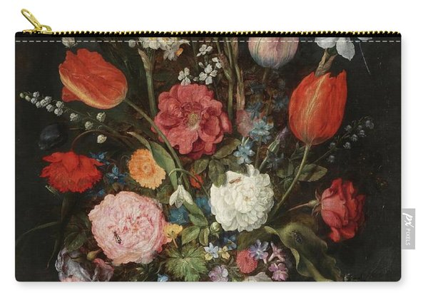 'vase Of Flowers'. First Quarter Of The Xvii Cen... Carry-all Pouch