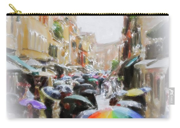 Venice In The Rain Carry-all Pouch