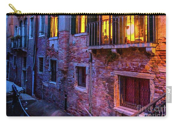Venice Windows At Night Carry-all Pouch