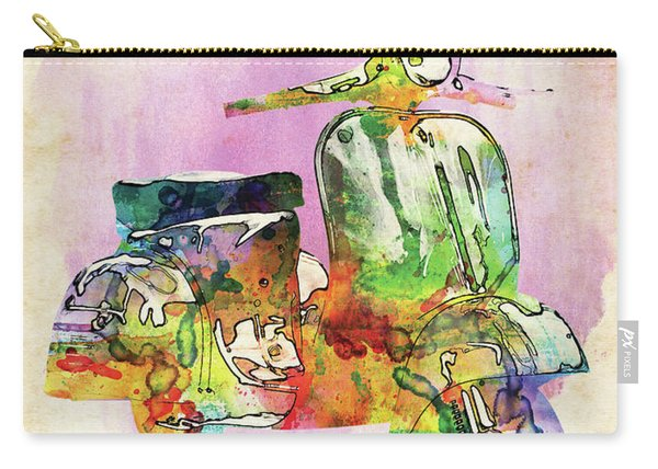 Vespa Colorful Watercolor Carry-all Pouch