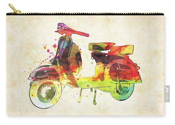 Vespa Retro Scooter Watercolor Carry-all Pouch