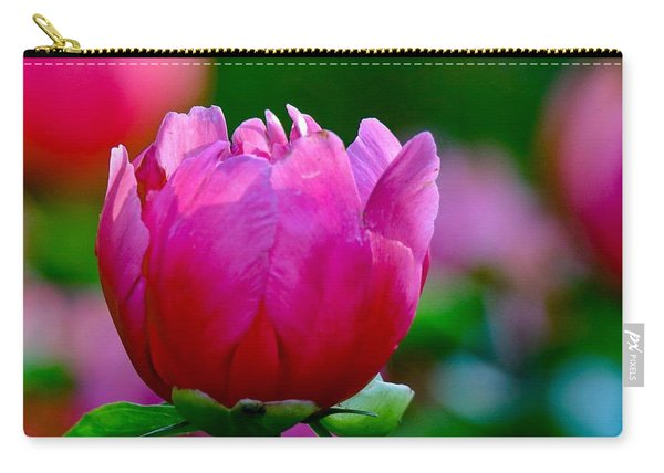 Vibrant Pink Peony Carry-all Pouch