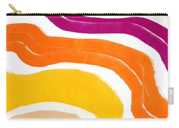 Vibrant Waves 1- Art By Linda Woods Carry-all Pouch