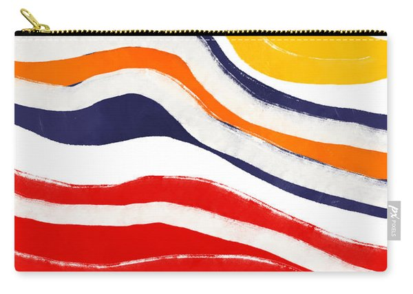 Vibrant Waves 2- Art By Linda Woods Carry-all Pouch