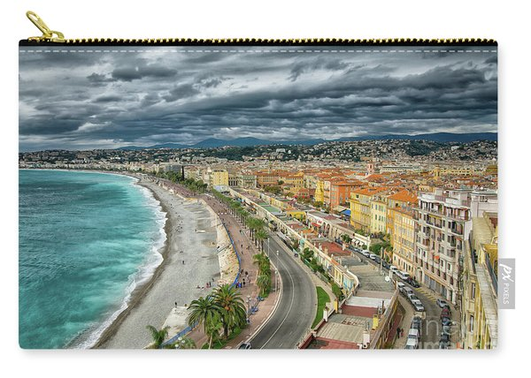 View Of Nice France From Castle Hill Carry-all Pouch