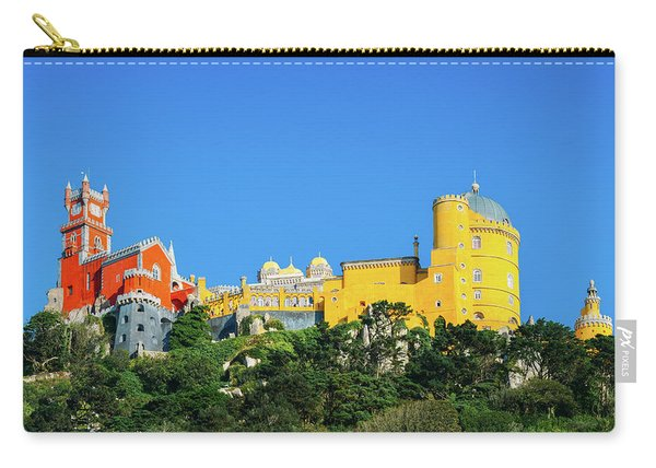 View Of Pena National Palace, Sintra, Portugal, Europe Carry-all Pouch