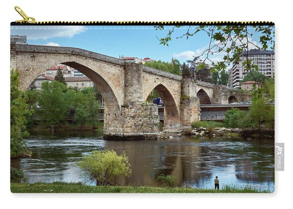View Of The Roman Bridge And The Minho River Carry-all Pouch