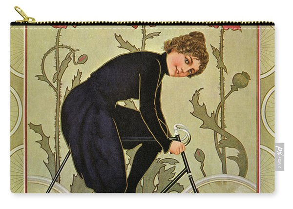 Vintage Bicycle Advertisement Woman Cycling Circa 1905 Carry-all Pouch
