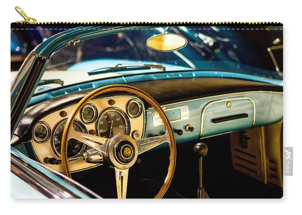 Vintage Blue Car Carry-all Pouch