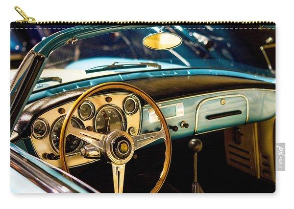 Vintage Blue Car Carry-all Pouch