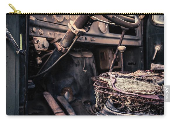 Vintage Car Interior Abandoned Carry-all Pouch