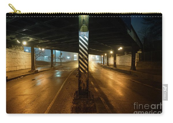 Vintage Chicago Bridge At Night Carry-all Pouch