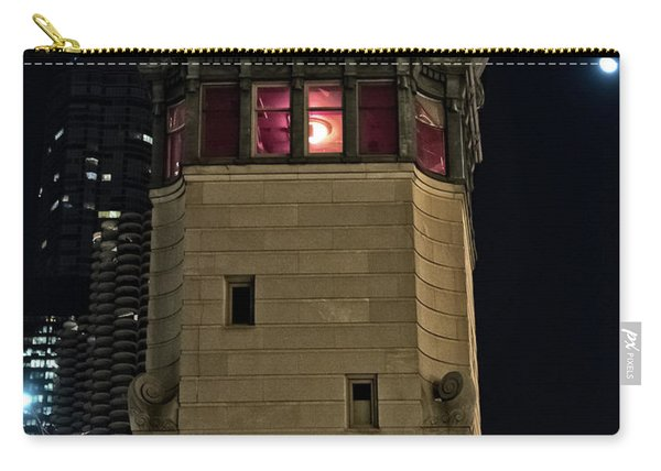 Vintage Chicago Bridge Tower At Night Carry-all Pouch