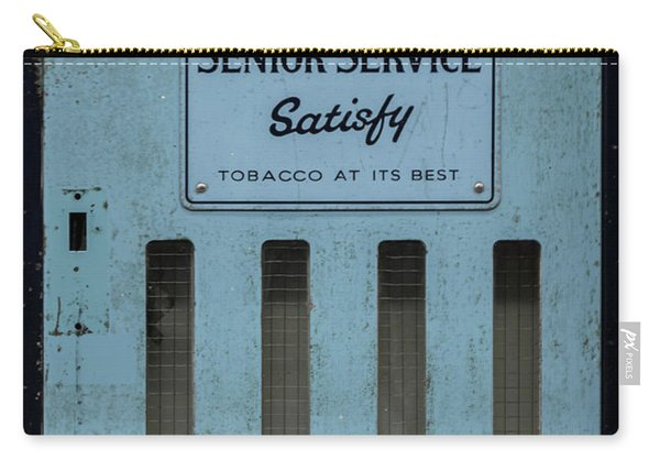 Carry-all Pouch featuring the photograph Senior Service Vintage Cigarette Vending Machine by Scott Lyons