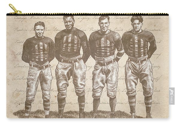 Vintage Football Heroes Carry-all Pouch