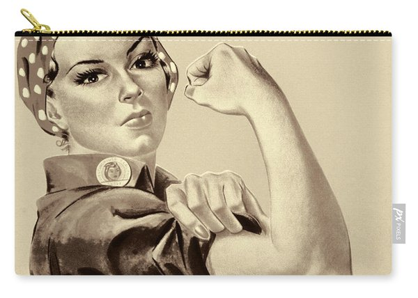 Vintage Image Of The Rosie The Riveter - Umber Carry-all Pouch